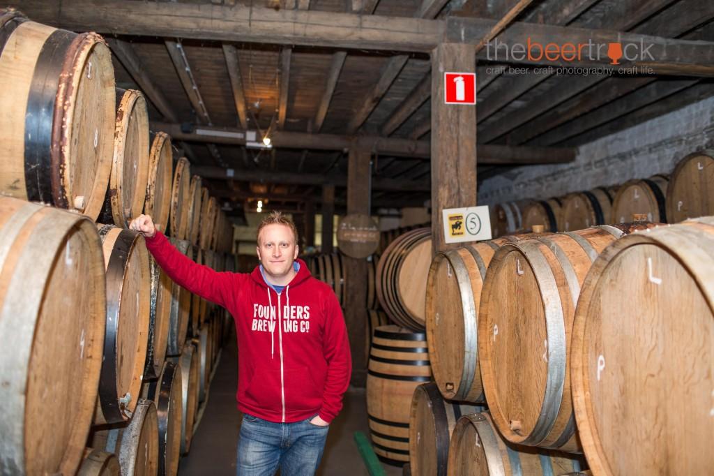 Among the barrels at Brewery Cantillon